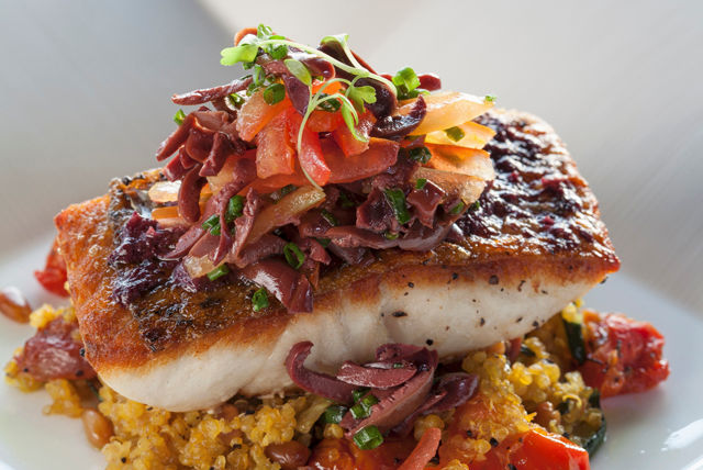 Grilled fish and vegetable quinoa medley recipe list for Fish and vegetable recipes