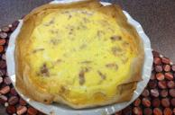 Bacon and Egg Morning Tortilla Pie