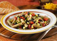 Penne with Black Bean & Corn Salsa
