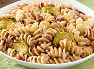 Rotini with Roasted Cauliflower and Brussels Sprouts