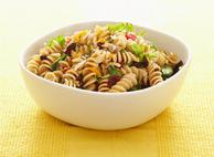 Rotini with Honey Ginger Mixed Greens