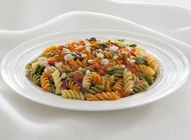Fusilli with Roasted Red Pepper & Feta