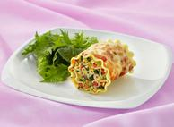 Chicken and Vegetable Lasagna Roll-ups