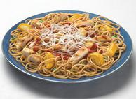 Spaghetti with Chicken and Vegetable Medley