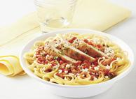 Gluten Free Linguine with Chicken and Red Pepper Pesto