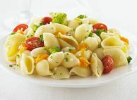 Shells with Broccoli, Tomatoes and Cheese