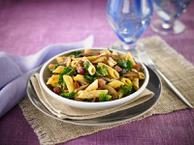 Gluten Free Penne with Wild Mushrooms & Spinach