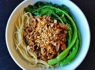 Asian Spicy Ground Turkey with Pasta
