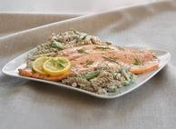 Roasted Rainbow Trout with Creamy Dill Fusilli