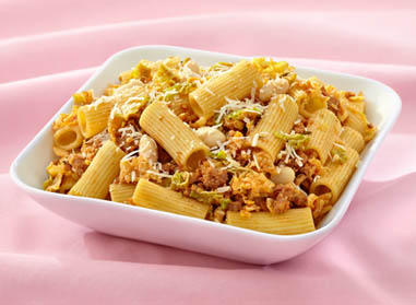 Rigatoni with Beans, Italian Sausage, and Kale  By Chef Sebastien Courville