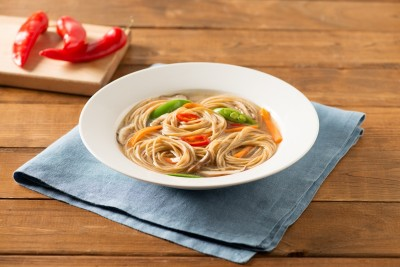 Spaghettini and Vegetable Miso Soup