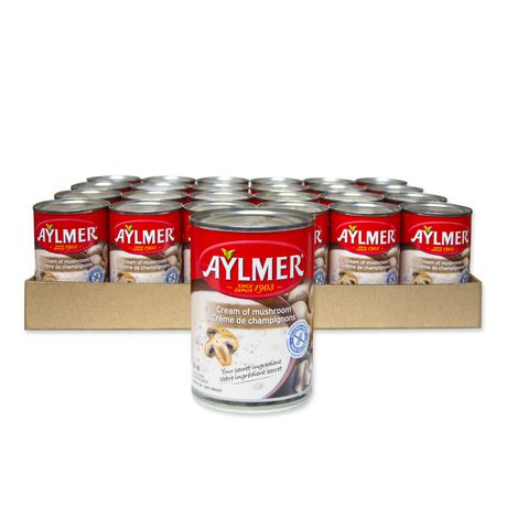 Aylmer Soup Aylmer Cream of Mushroom Condensed Soup Case Pack
