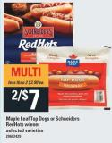 Maple Leaf Top Dogs Or Schneiders Redhots Wiener