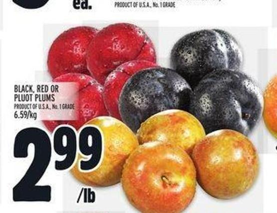 Black - Red Or Pluot Plums