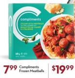 Compliments Frozen Meatballs