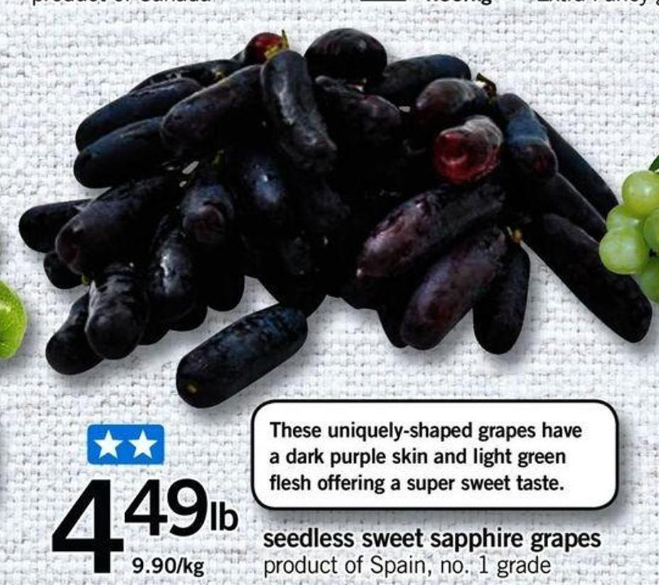 Seedless Sweet Sapphire Grapes