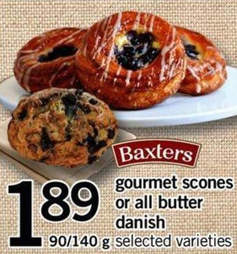 Gourmet Scones Or All Butter Danish - 90/140 g