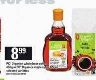 PC Organics Whole Bean Coffee - 454 G Or PC Organics Maple Syrup - 375 Ml