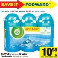 Air Wick - 3x120 mL Or Air Wick Freshmatic - 3x175/180 g