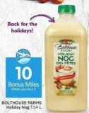 Bolthouse Farms Holiday Nog - 10 Air Miles Bonus Miles