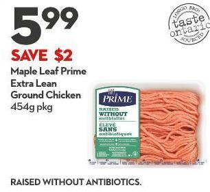 Extra Lean  Ground Chicken 454g Pkg