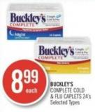 Buckley's Complete Cold & Flu Caplets 24's