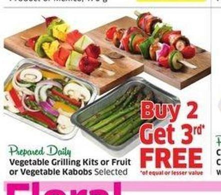 Vegetable Grilling Kits or Fruit or