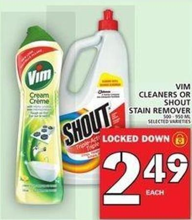 Vim Cleaners Or Shout Stain Remover