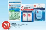 Life Brand Dental Piks (2 X 100's) - Flossers (150's) or Interdental Products