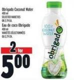 Obrigado Coconut Water 400 ml