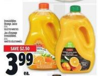 Irresistibles Orange Juice 2.5 L