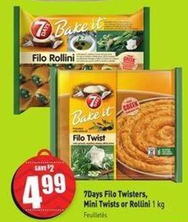 7days Filo Twisters - Mini Twists or Rollini 1 Kg