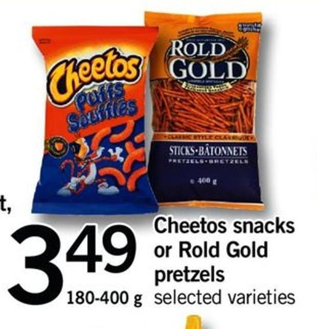 Cheetos Snacks Or Rold Gold Pretzels - 180-400 G