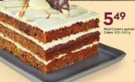 Real Cream Layered Cakes 305-340 g