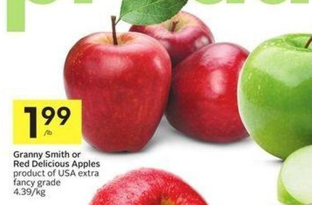 Granny Smith or Red Delicious Apples