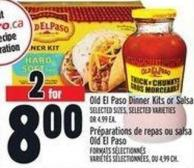 Old El Paso Dinner Kits Or Salsa