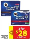 Maxwell House Single-serve Coffee Pods 30s