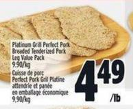 Platinum Grill Perfect Pork Breaded Tenderized Leg Value Pack