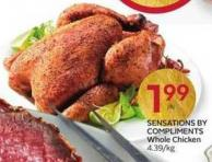Sensations By Compliments Whole Chicken 4.39/kg