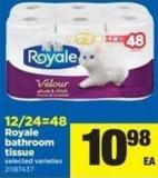 Royale Bathroom Tissue - 12/24=48