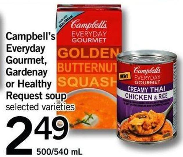 Campbell's Everyday Gourmet - Gardenay Or Healthy Request Soup  - 500/540 Ml