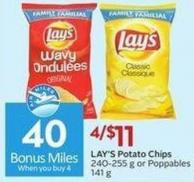 Lay's Potato Chips  240-255 g or Poppables 141 g - 40 Air Miles Bonus Miles