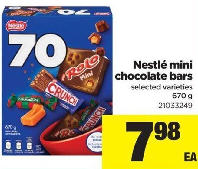 Nestlé Mini Chocolate Bars - 670 g