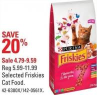 Purina Selected Friskies Cat Food