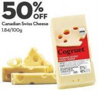 Canadian Swiss Cheese 1.84/100g