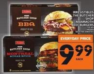 Irresistibles The Butcher Shop Mammoth Beef Burgers