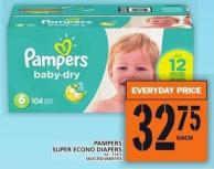 Pampers Super Econo Diapers 92 - 174's