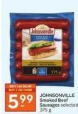 Johnsonville Smoked Beef Sausages Selected 375 g