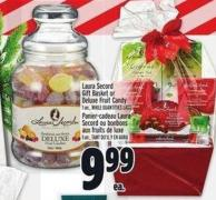 Laura Secord Gift Basket Or Deluxe Fruit Candy 1 Un.