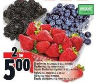 Strawberries 454 g - Product Of U.S.A. - No. 1 Grade Blackberries 170 g - Product Of Mexico Organic Blueberries 170 g - Product Of U.S.A. - No. 1 Grade